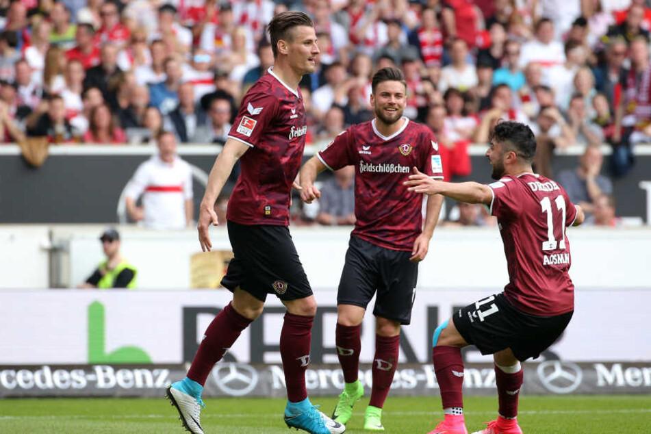 Dynamo kam aus dem Jubeln gar nicht mehr raus in Hälfte eins, musste aber auch einen Gegentreffer hinnehmen.