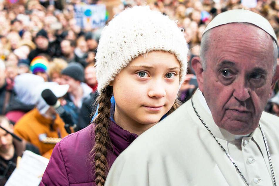 Bitte um Segen Gottes? Greta Thunberg trifft Papst Franziskus
