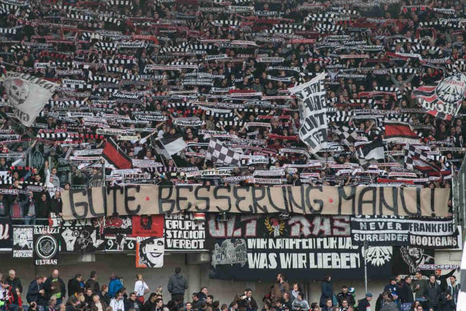 Vor der Europa League-Partie sollen Eintracht-Fans zwei Mailänder Anhängern ins Gesicht geschlagen haben (Symbolbild).