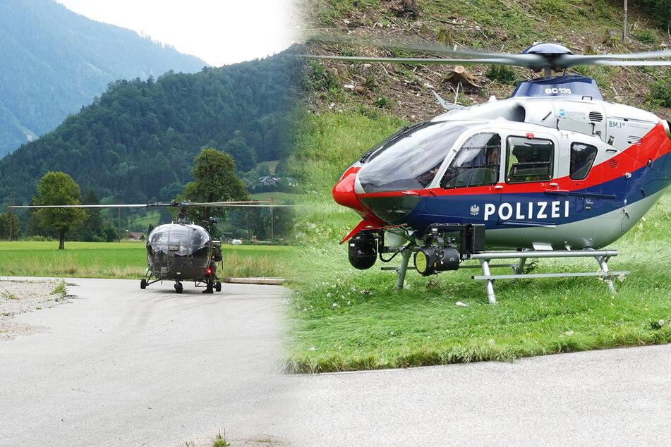 Insgesamt drei Hubschrauber - zwei von der Polizei und einer vom Militär - suchten den Mann.