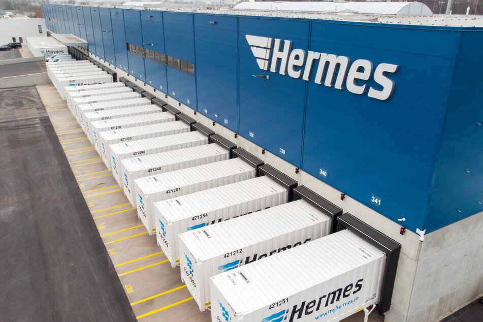 Das Logistikzentrum des Dienstleistungsunternehmens Hermes in Billbrook.
