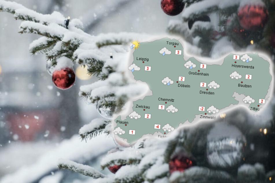 Chancen auf weiße Weihnachtsfeiertage in Sachsen stehen gut!