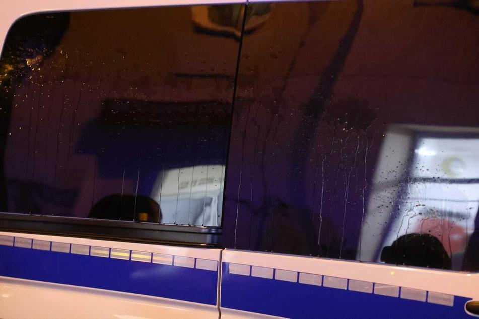 Auch Polizeifahrzeuge wurden attackiert.
