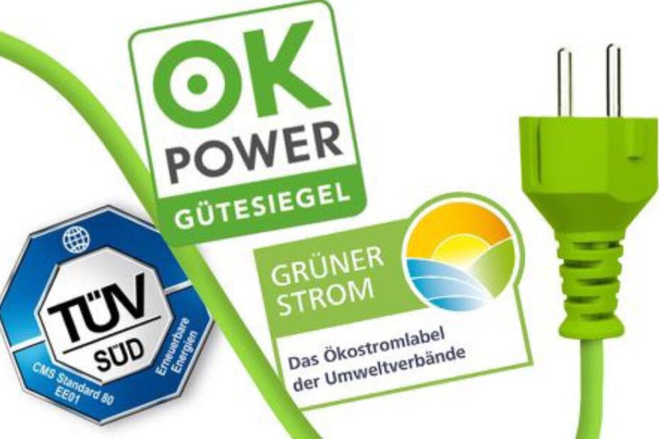 Diese Siegel garantieren 100 Prozent echten Ökostrom aus erneuerbaren Energien.