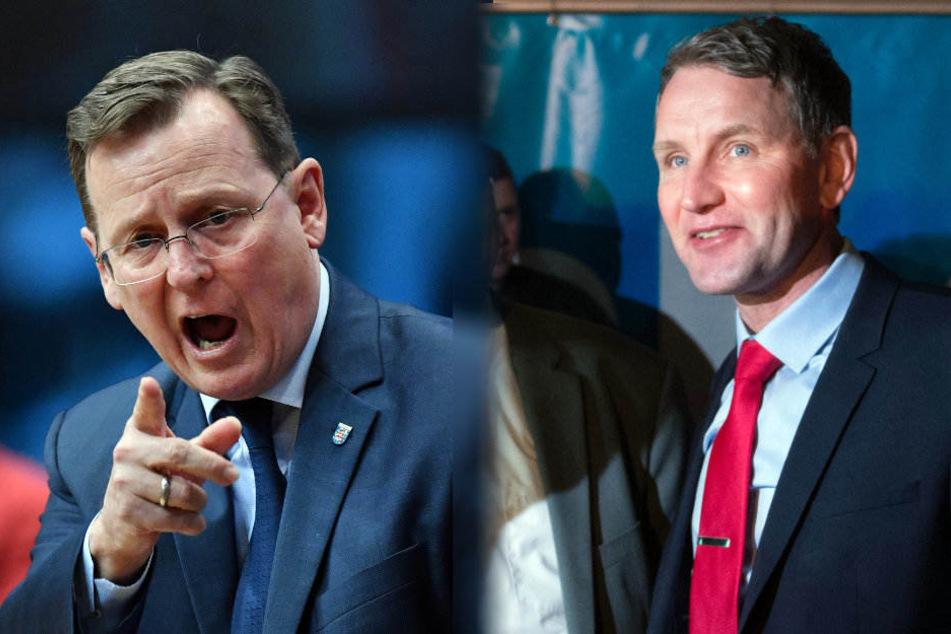 Wer von den Beiden hat wohl Recht? Bodo Ramelow (links) soll Björn Höcke als Arschloch bezeichnet haben.