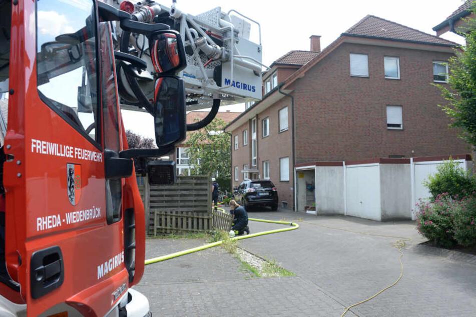 35 Feuerwehrmänner waren vor Ort.