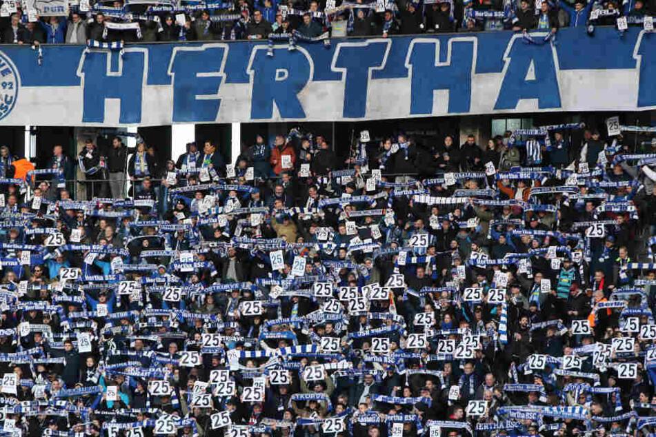 Fans halten Schilder mit Torunarighas Rückennummer 25 hoch.