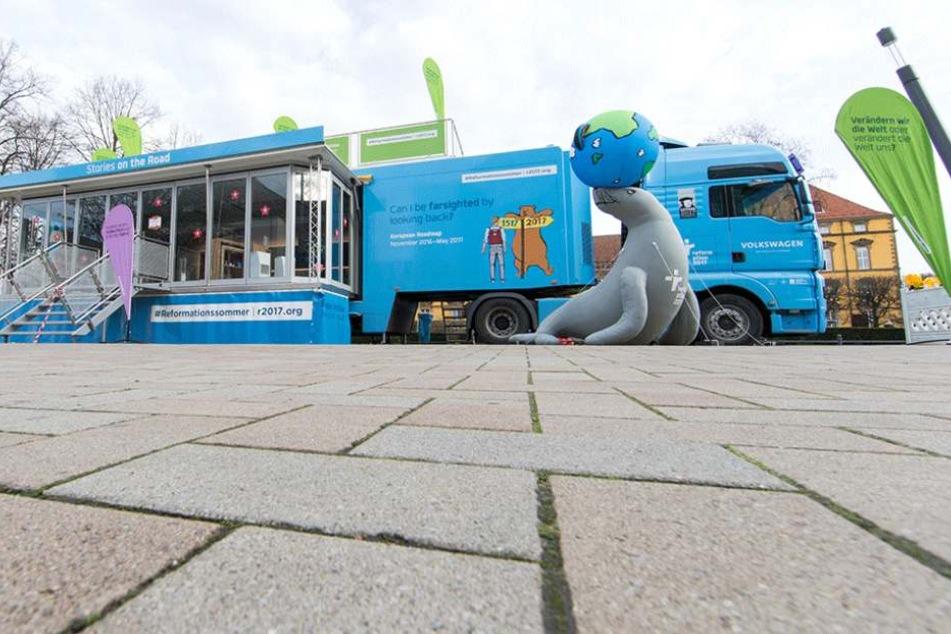 Der Reformations-Truck tourt durch 67 europäische Städte, sammelt und zeigt Geschichten von Martin Luther.