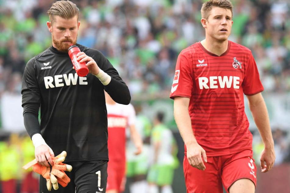 Timo Horn (25) und Dominique Heintz (24) waren nach der Niederlage bedient