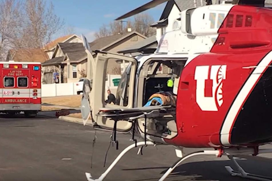 Der Junge (4) wurde mit einem Rettungshubschrauber in ein Krankenhaus gebracht.
