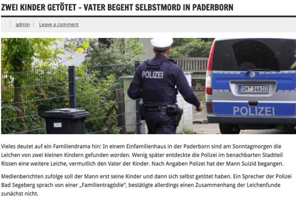 Ob Paderborn oder andere Städte in OWL - überall war die Falschmeldung zu finden.