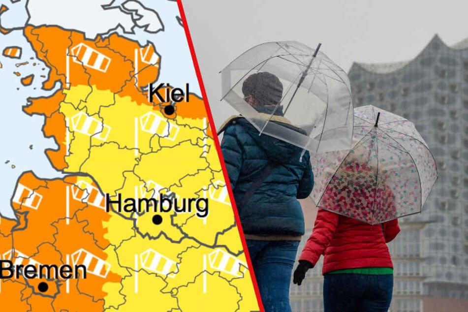 Wetter im Norden: Es wird wieder regnerisch und stürmisch!