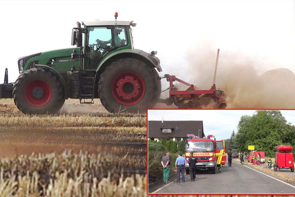 Kilometerweite Rauchsäule: Feldbrand nahe Sachsenring!