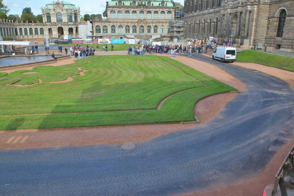 Dresden: Was macht eine Teerstraße im historischen Zwinger?