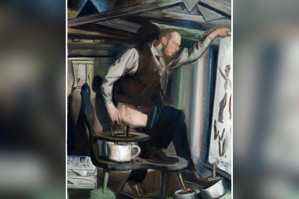 """Das viel diskutierte Gemälde """"Der Anbräuner"""" des Leipziger Malers Neo Rauch wird ebenfalls versteigert."""