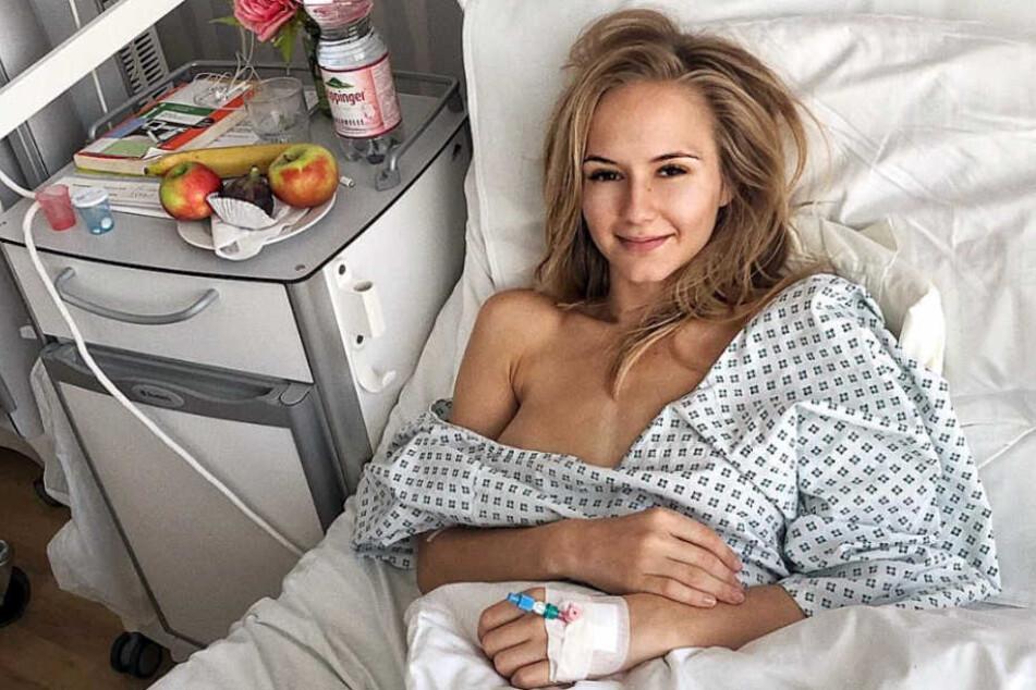Annetta Negare in ihrem Krankenzimmer.