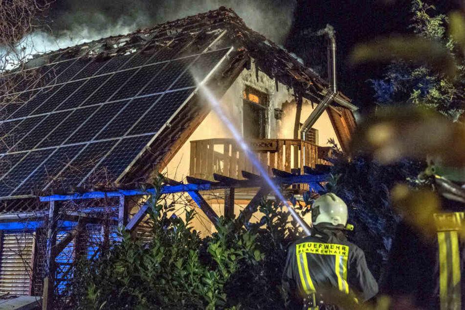 Bei dem Brand wurde das Haus zerstört.