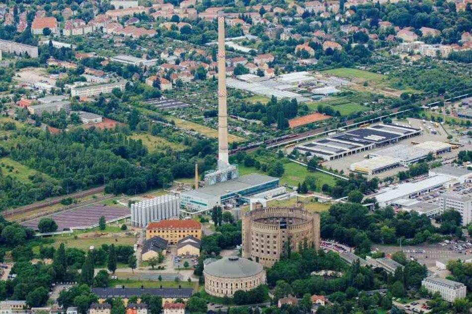 Mit 200 Metern Höhe ist der Drewag-Schornstein das zweithöchste Gebäude Dresdens. Noch.