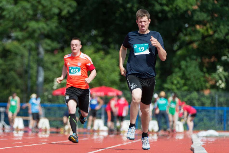 Bei den Special Olympics treten Menschen mit geistiger Behinderung an.