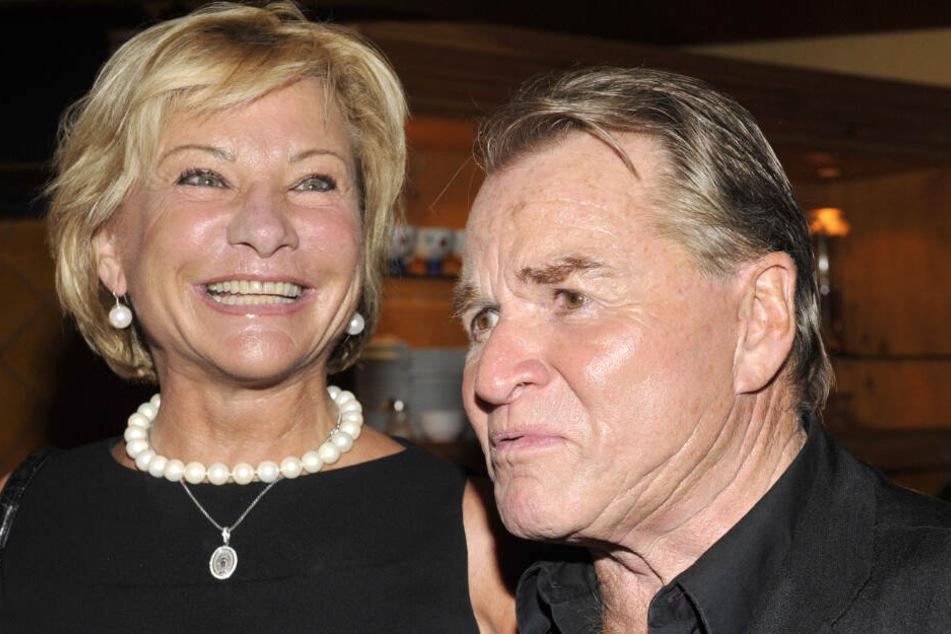 Angela Wepper mit ihrem Ehemann Fritz bei einem After Show Dinner im Jahr 2009.
