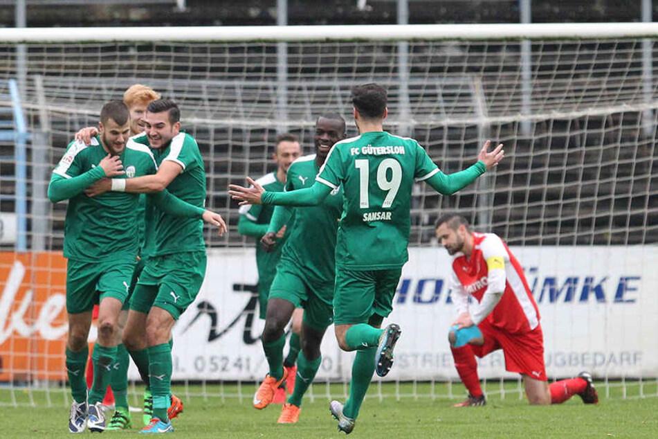 Freude am Fußball: FC Gütersloh gewinnt am 13. Spieltag 2:0 gegen Kaan-Marienborn.