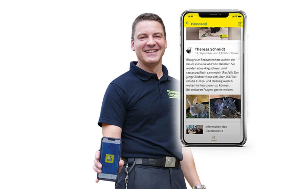 Auch Feuerwehrchef René Kraus (46) und seinen Kameraden kommt die Mitarbeiter App gelegen.