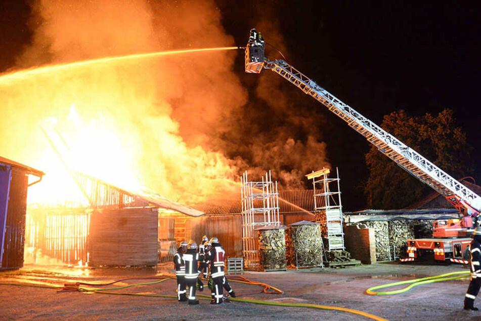 Das Feuer brach am Freitagabend aus.