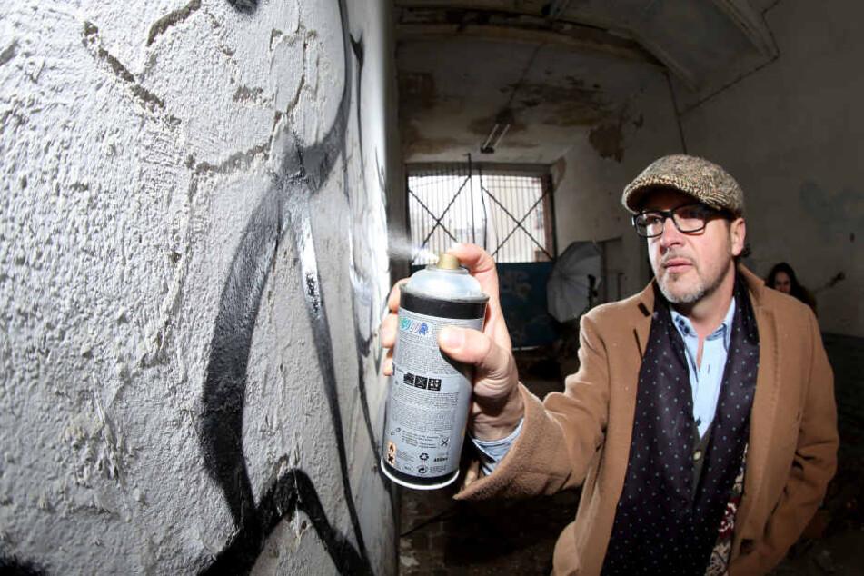 Der Kopf hinter dem Festival: Künstler Tasso alias Jens Müller (51).