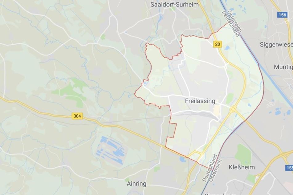 In Freilassing ist in Bayern ein betrunkener Radfahrer gestürzt - und das direkt vor einer Polizeistreife.