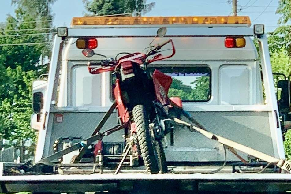 Das Motorrad des 42-Jährigen.