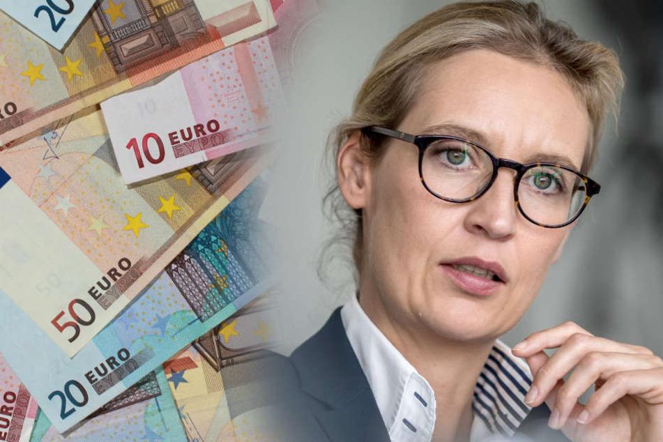 130.000 Euro gingen von einer Schweizer Pharmafirma an Alice Weidels AfD-Kreisverband. (Fotomontage)