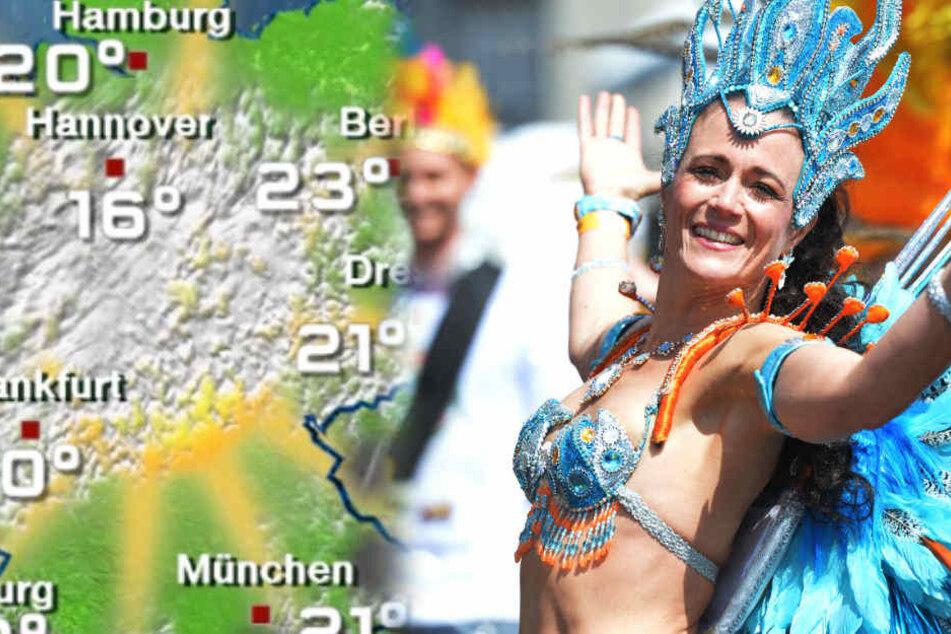 Zum Karneval der Kulturen erwartet Berlin angenehme Temperaturen.