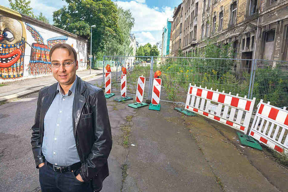 """Die Sebastian-Bach-Straße ist ein positives Beispiel:""""Hier soll's 2017 mit den Sanierungsarbeiten losgehen."""""""