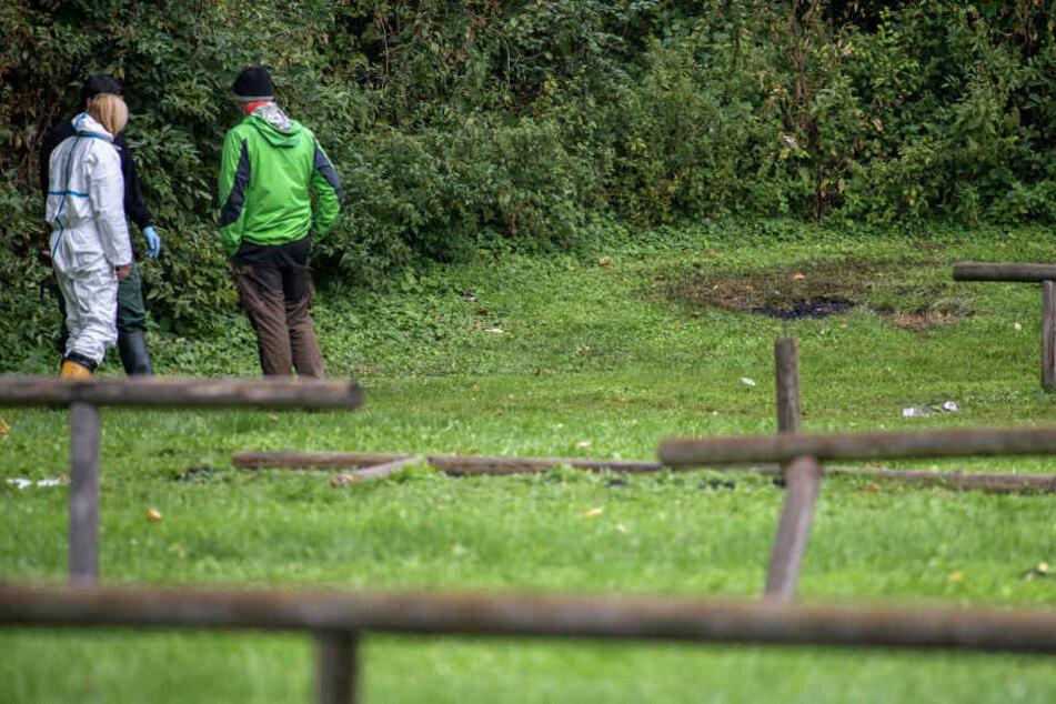Die verbrannte Leiche wurde im Jahr 2017 am Feringasee bei Unterföhring gefunden. (Archivbild)