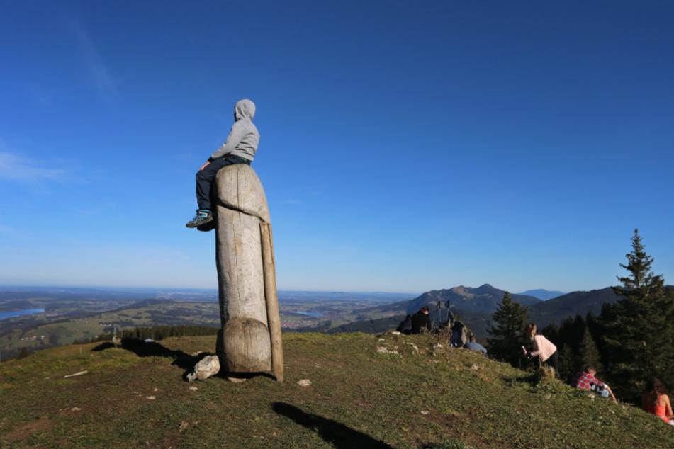 """Seit vier Jahren steht das ungewöhnliche """"Kulturdenkmal"""" auf dem Berg."""
