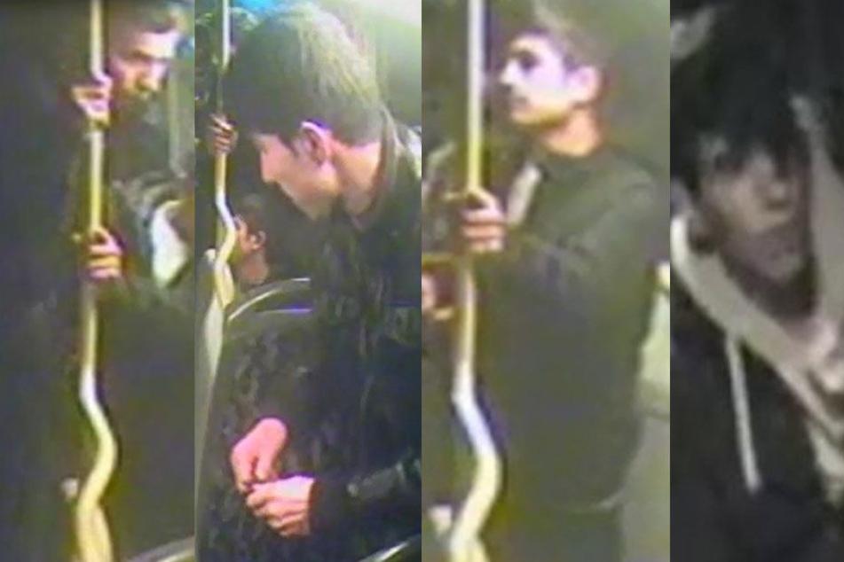 Mit diesen Fahndungsbildern sucht die Polizei nach den Schlägern.