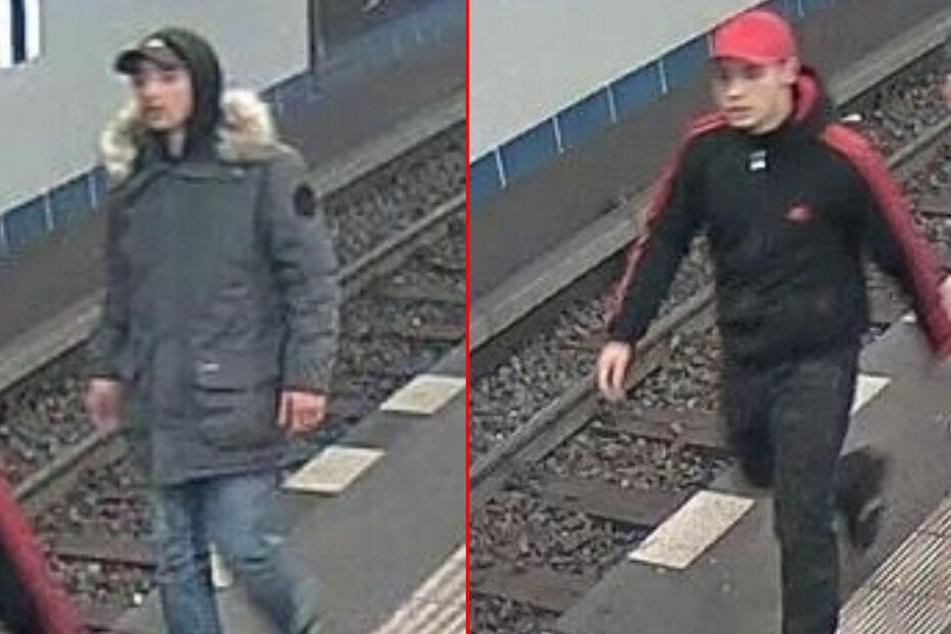 Die Polizei sucht diese beiden Räuber.