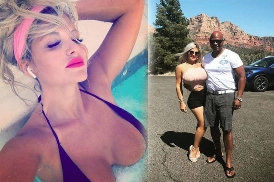 Auf dem aktuellen Foto mit ihrem Freund Dan zeigt sich die schwangere Sophia super schlank.