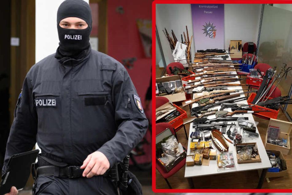 Polizei stößt zufällig auf ganzes Waffen-Arsenal