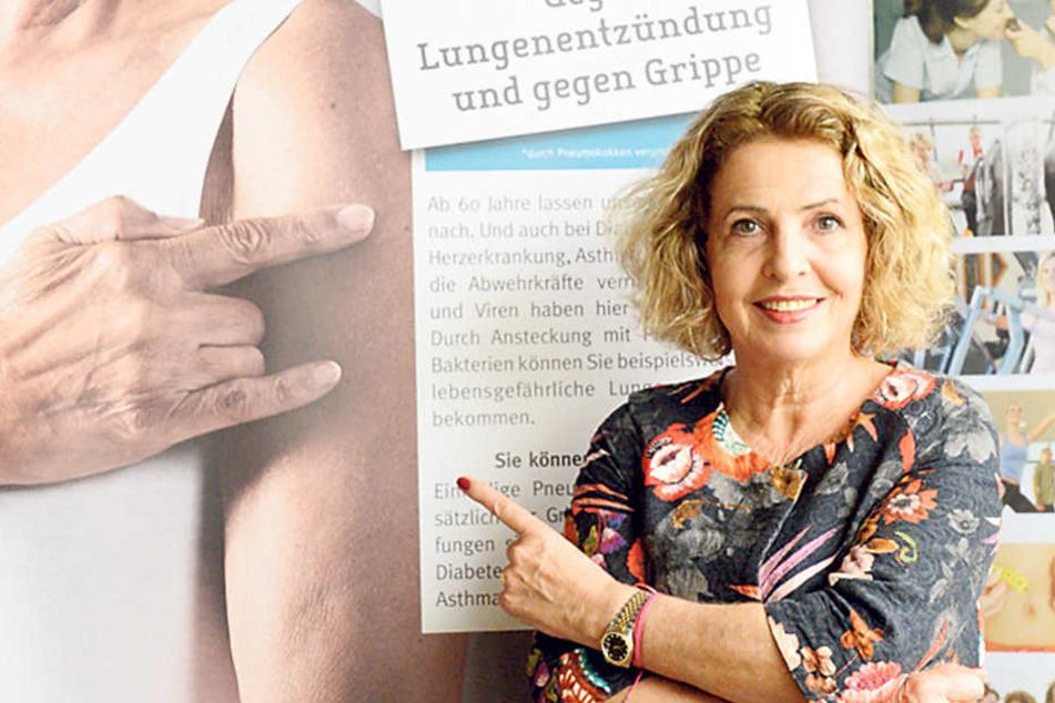 Unterstützt die Impf-Kampagne und kommt nach Dresden: Schauspielerin Michaela  May (64).