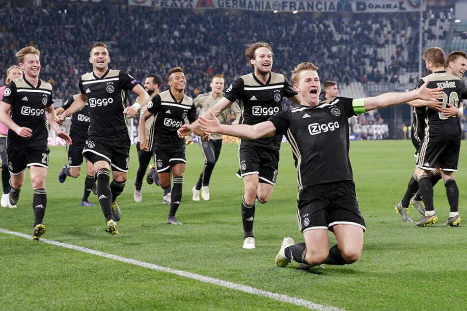 Die jungen Wilden von Ajax Amsterdam schafften bei Juventus die Sensation und stehen jetzt im Halbfinale der Champions League.