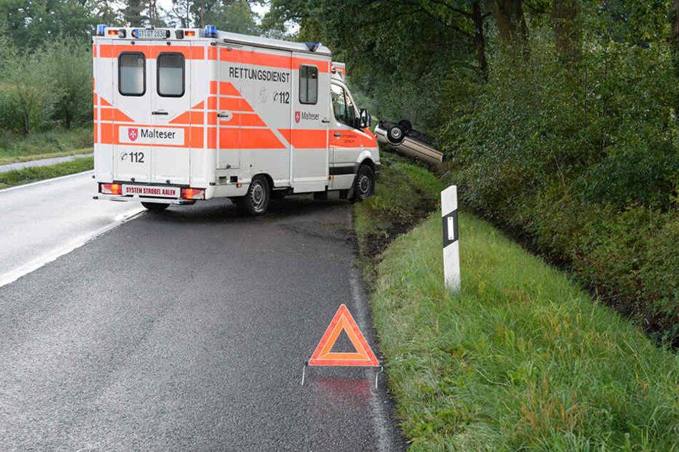Eine Notärztin kümmerte sich um die Verletzten.