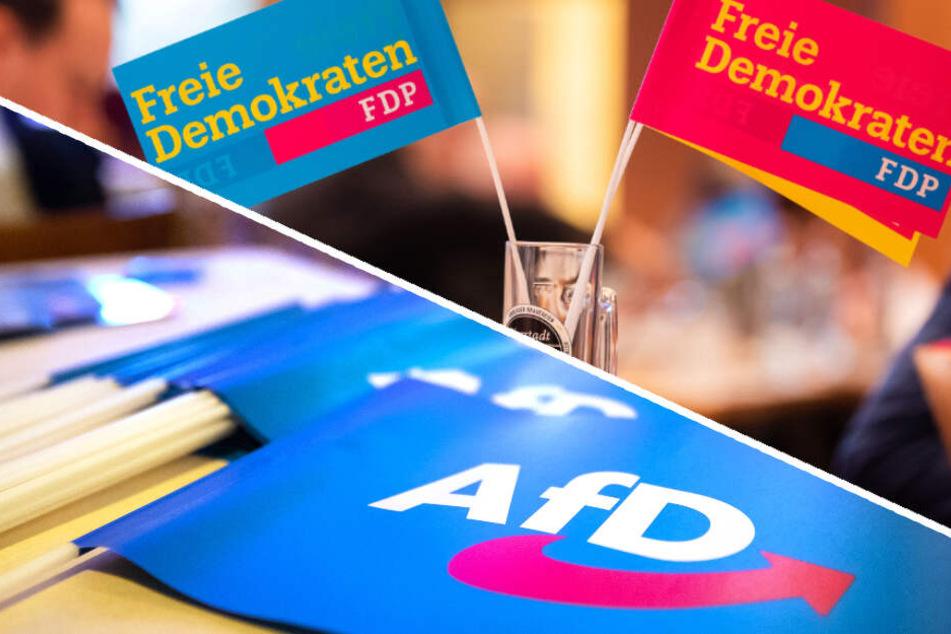 Die FDP verliert in den Umfragen, die AfD würde dagegen 11 Prozent erreichen. (Bildmontage)