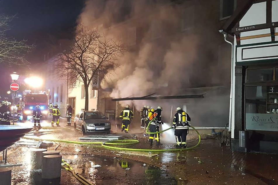 Das Feuer in dem Geschäft hinterließ einen erheblichen Schaden.