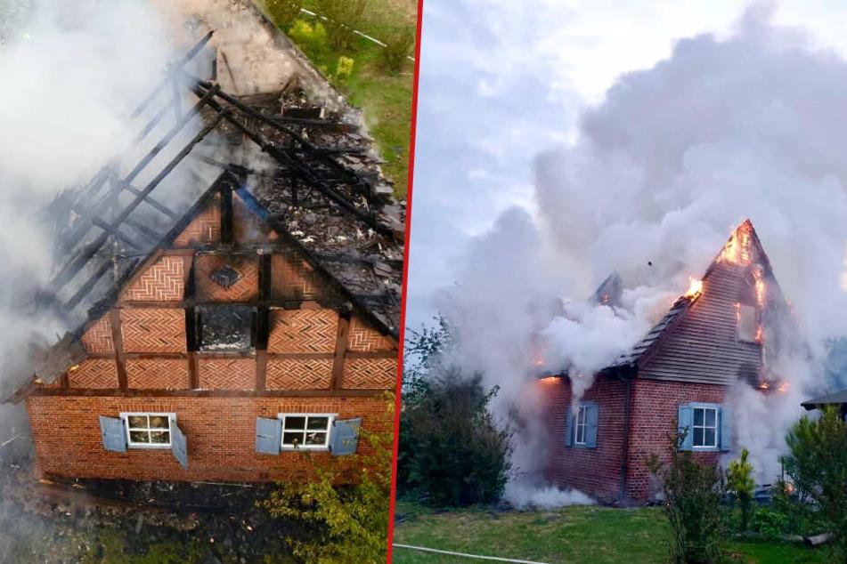 Spektakulärer Brand bei Nauen: 79-jähriger Senior wird von Feuer überrascht