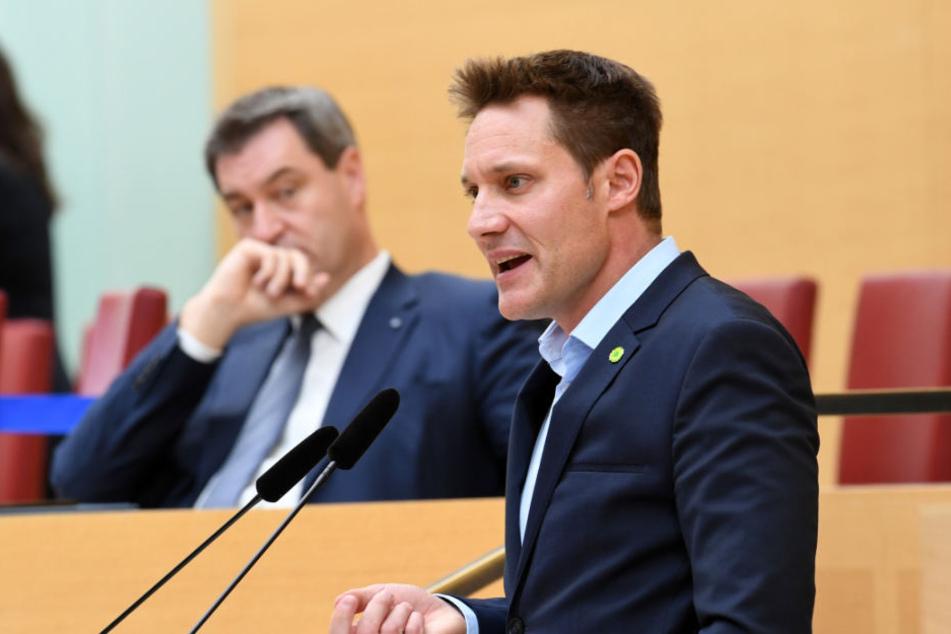 Ludwig Hartmann (r) gab Markus Söder die Schuld an dem bedenklichen Trend.