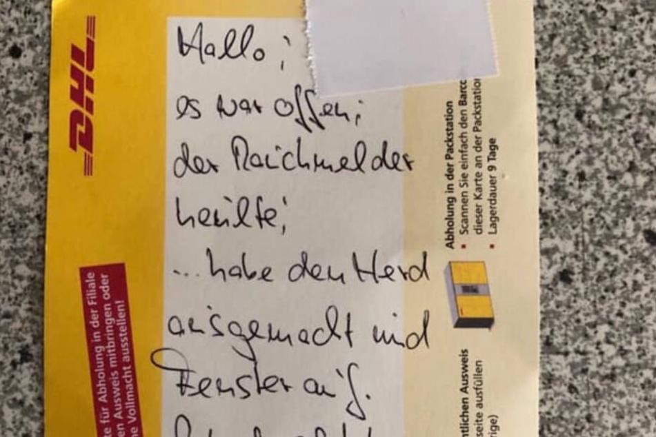 Paketbote verhindert Brand in Kindergarten und hinterlässt diese Botschaft