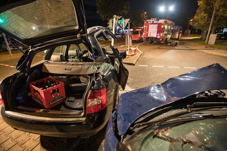Drei Verletzte gab es bei dem Unfall in Brand Erbisdorf.