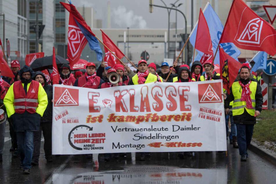 Daimler-Beschäftigte in Sindelfingen am 16. Januar.