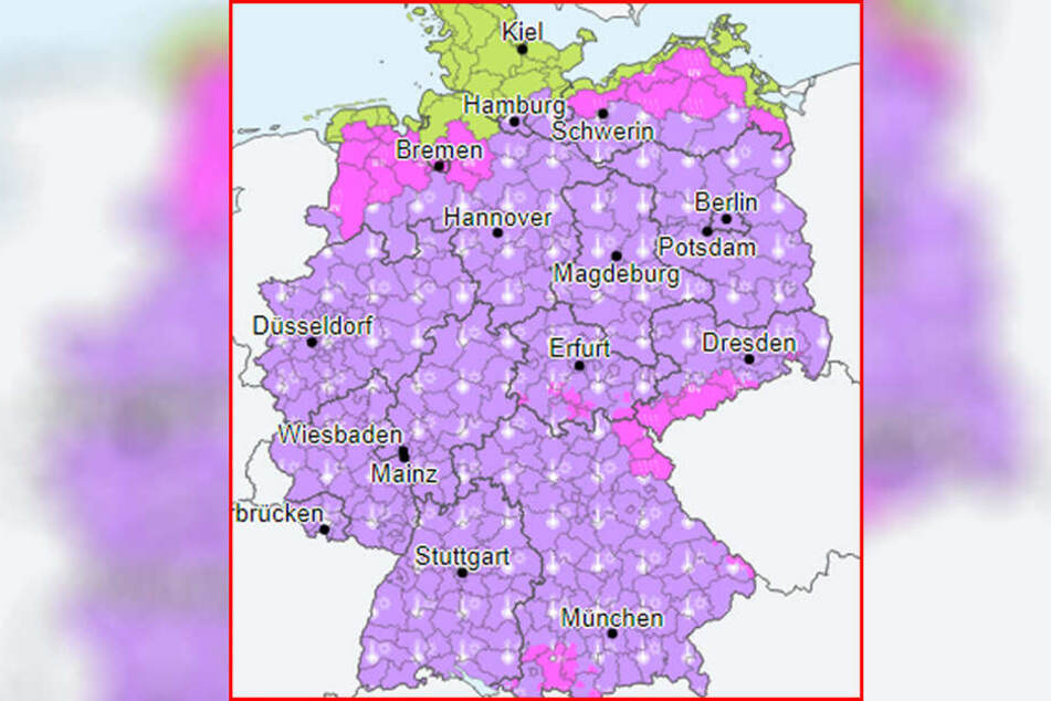Während in einigen Teilen Deutschlands vor UV-Strahlung gewarnt wird, gibt es für andere Gebiete eine Hitze-Warnung.